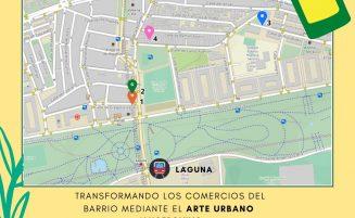 """Mapa del recorrido de """"Pintamos nuestro Barrio"""" en Lucero"""